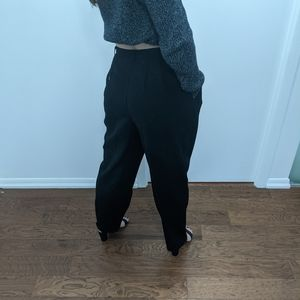 Vintage Black High-waisted Trousers